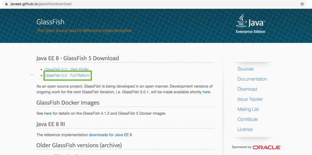 Glassfish 5.0 GitHub repo